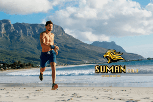 chạy trên bờ biển - tăng cường sức khỏe phải mạnh